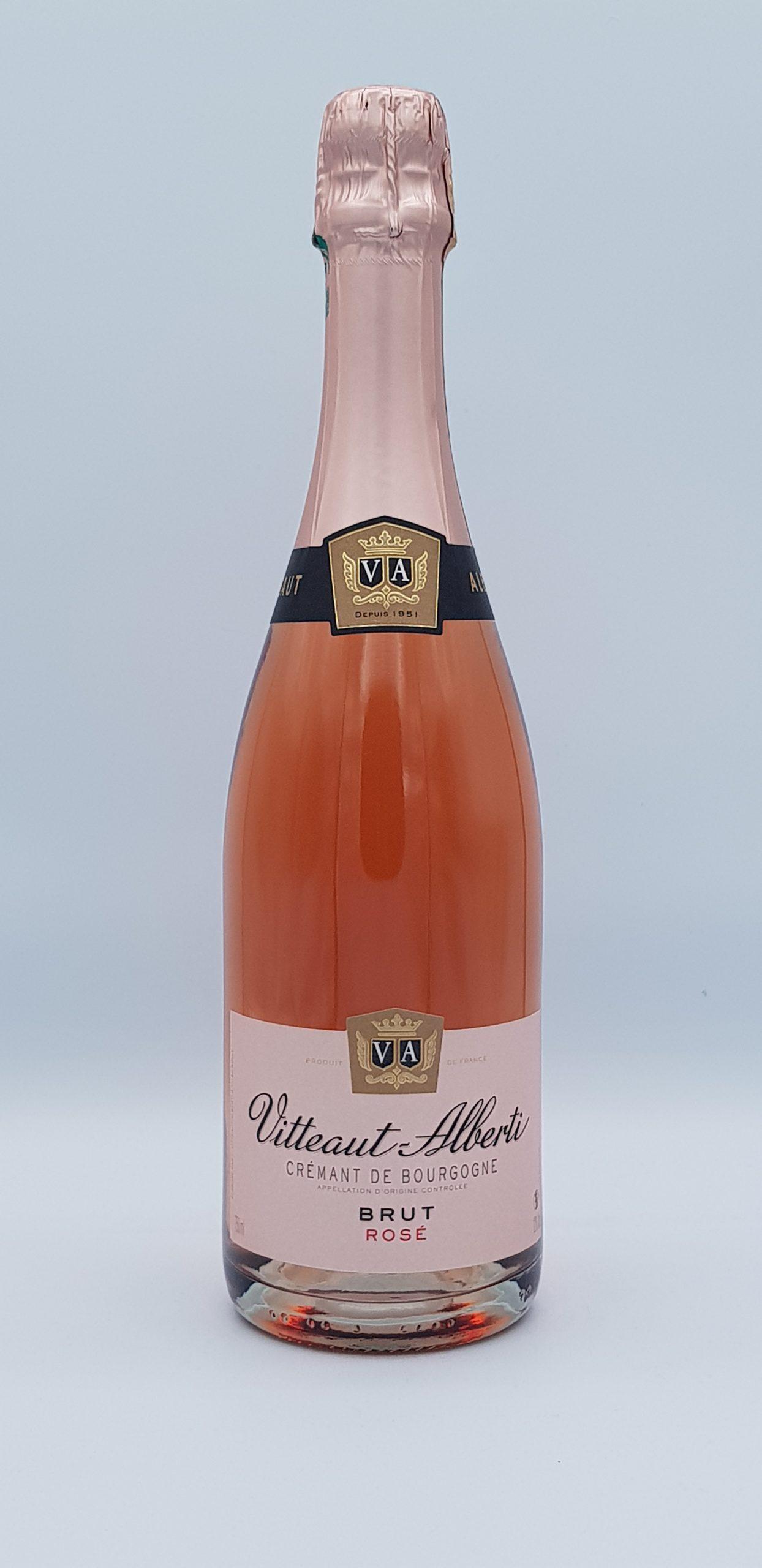 Cremant De Bourgogne Brut Rose Vitteaut Alberti