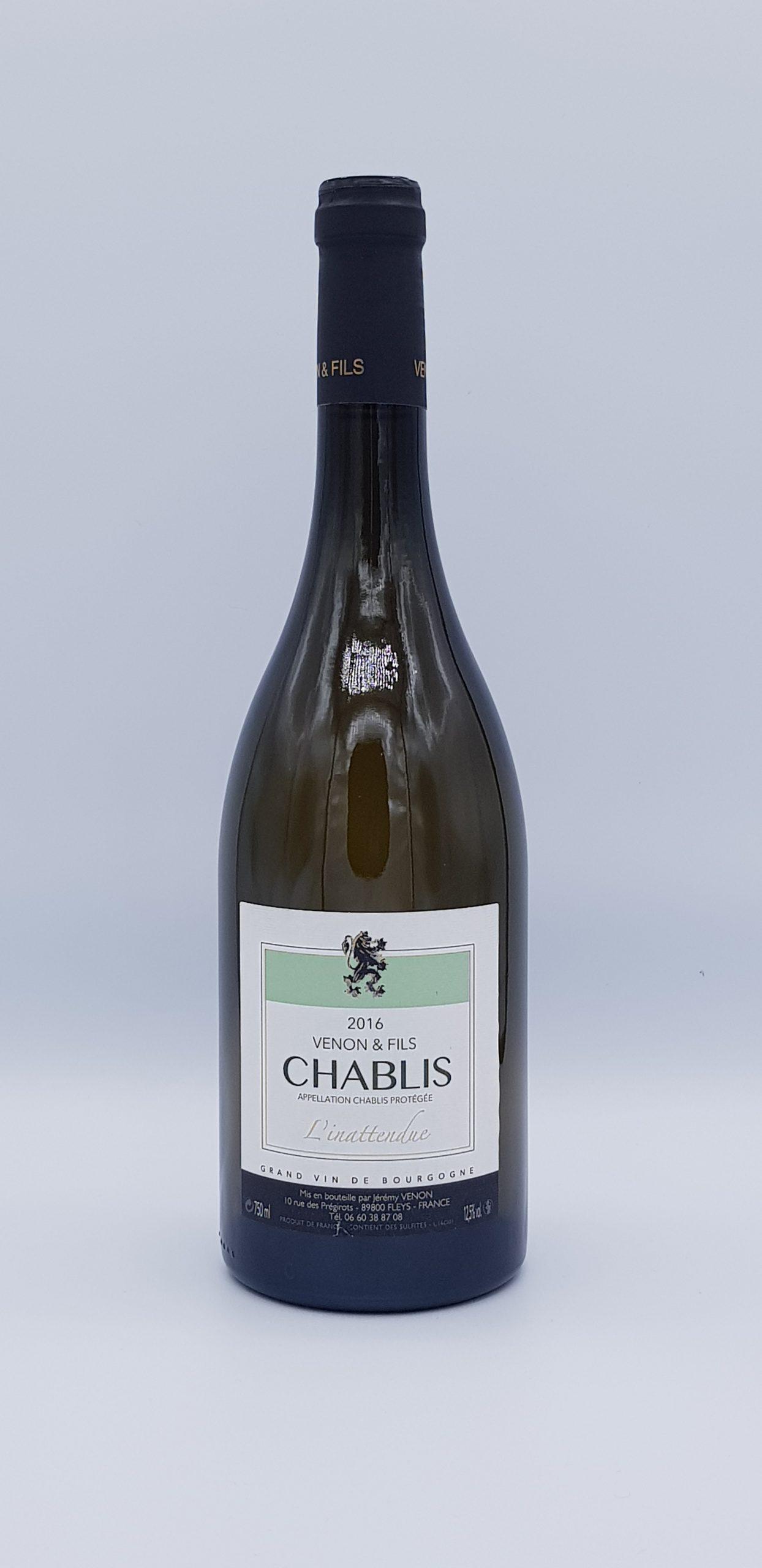 Bourgogne Chablis 2016 Blc Innattendue