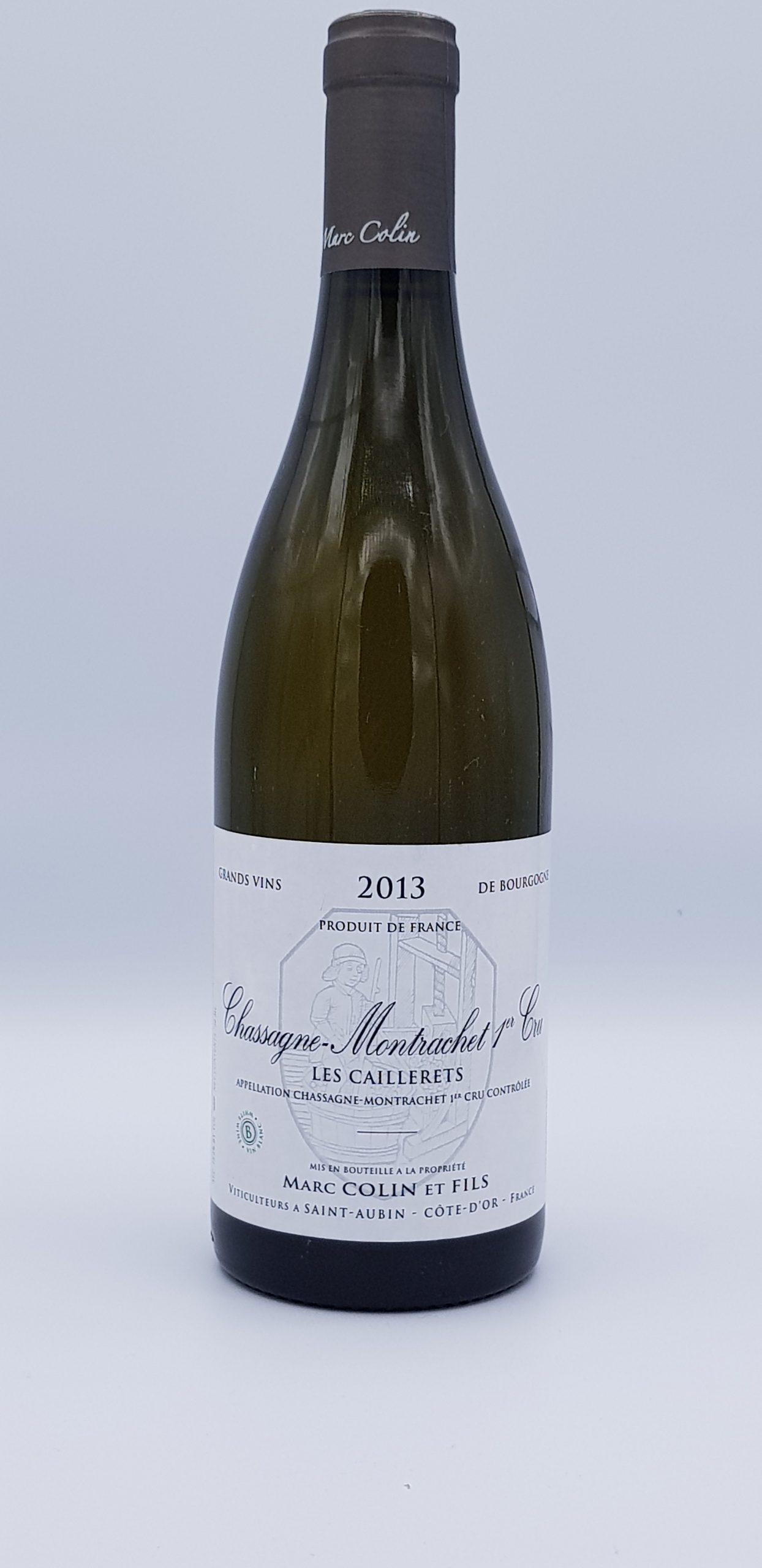 Bourgogne Chassagne 1Er Cru 2013 Caillerets Dom Colin