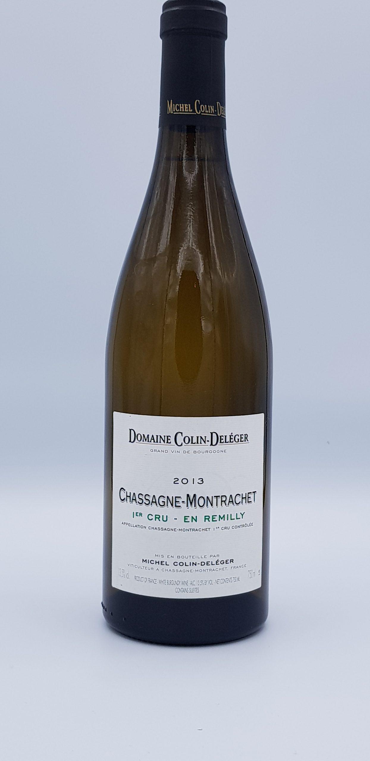 Bourgogne Chassagne 1Er Cru Remilly 2013 Dom Colin Deleger