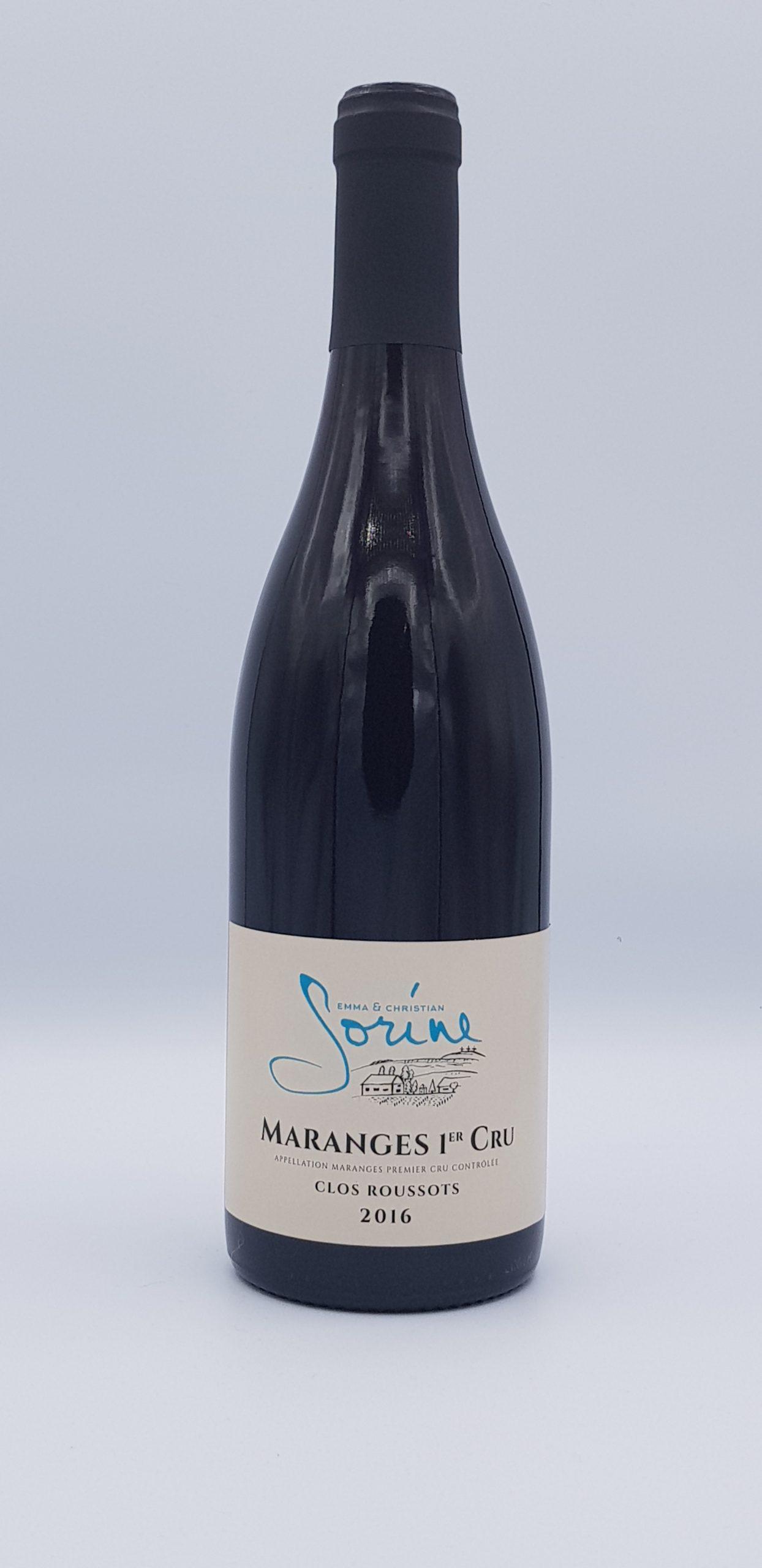 """Maranges 1er Cru """"Clos Roussots"""" 2016 Rouge"""
