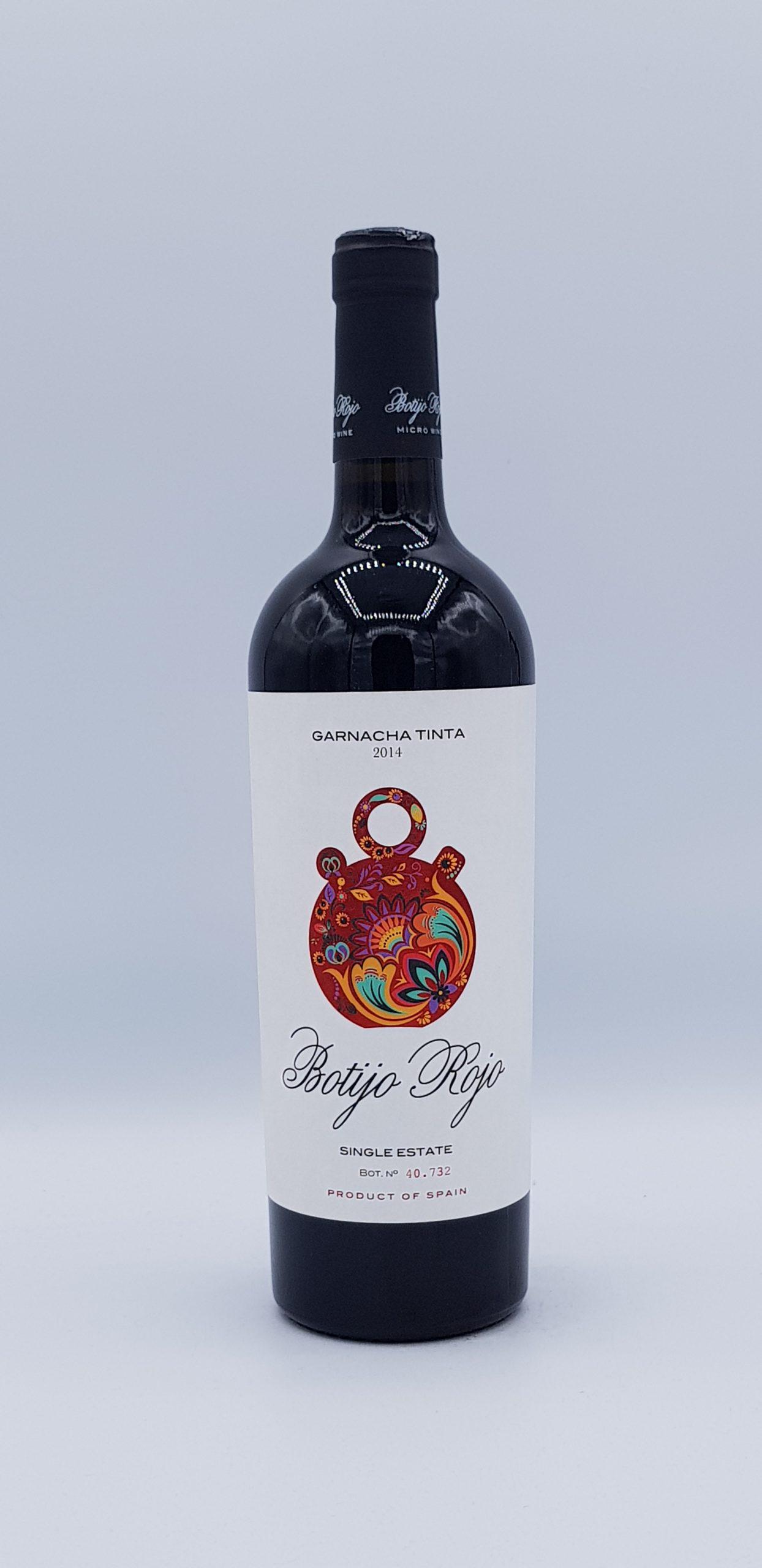 Botijo Rojo 2014 The Garage Wine Igp Valdejalon Spain