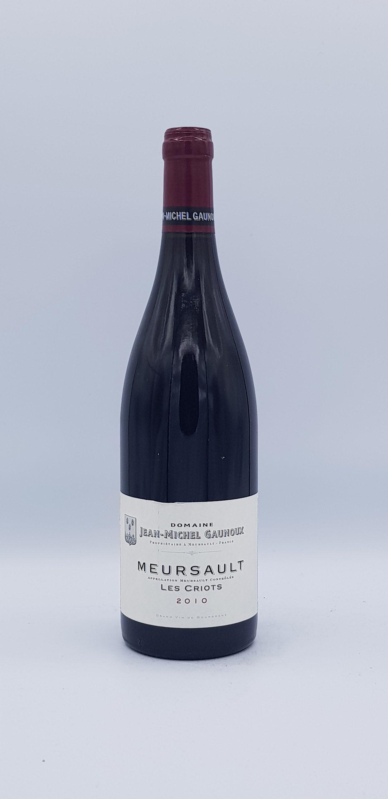 Meursault Les Criots 2010 Rouge