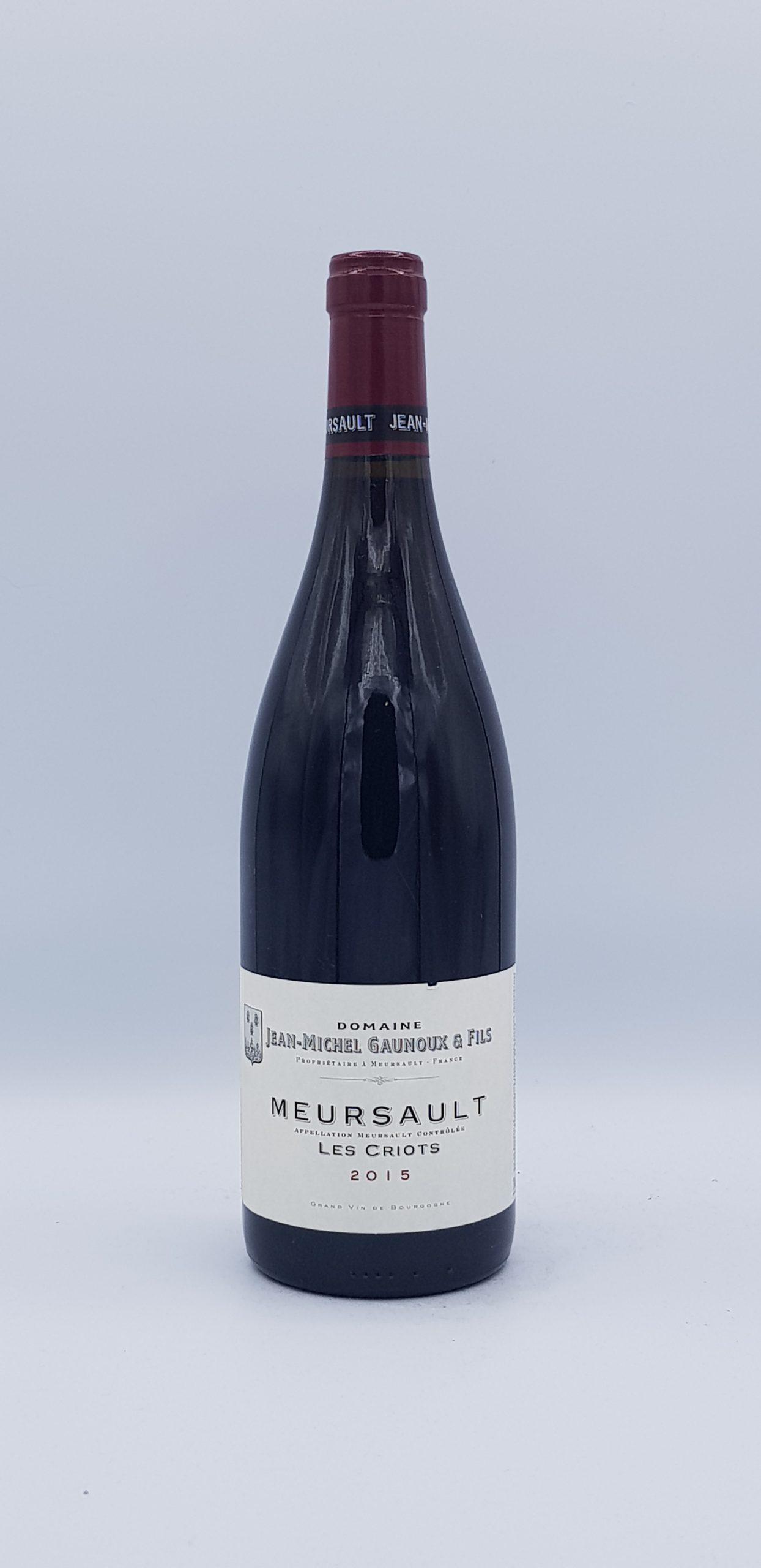 """Meursault """"Les Criots"""" 2015 Rouge"""