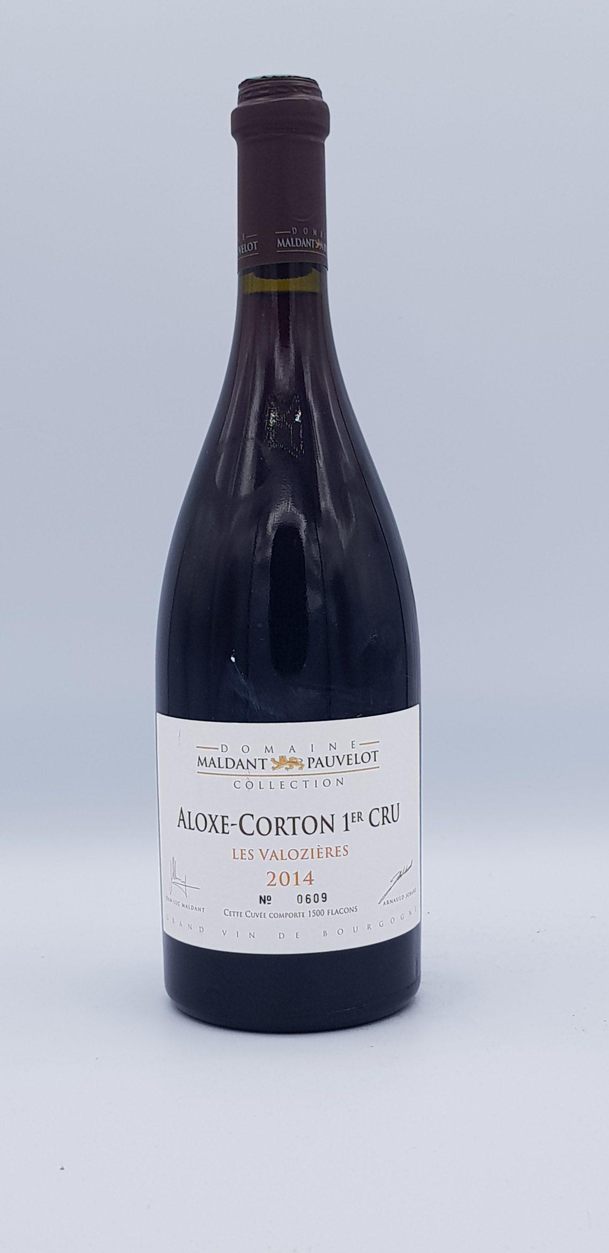 "Aloxe Corton Rouge 1er Cru 2014 ""Les Valozieres"""