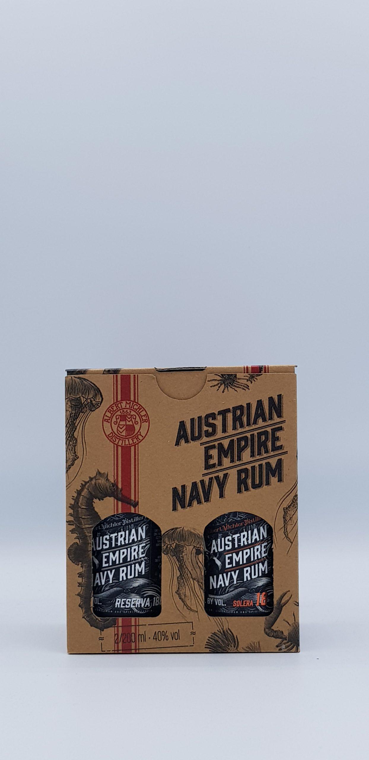 Rhum Coffret 20 cl Austrian Navy Reserva + Solera 1863